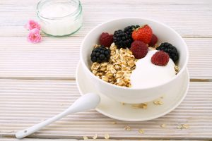 Bowl of yogurt and fruit