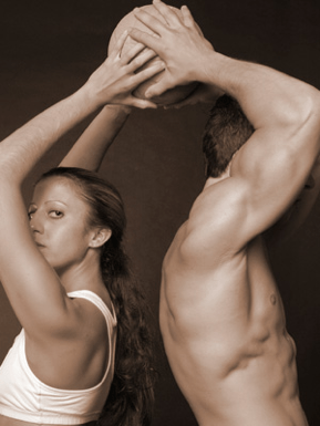 male and female athlete