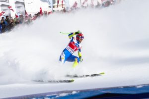 Skier competing in race. Example of the type of athlete PHG has worked with.