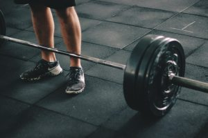 Barbell at gym