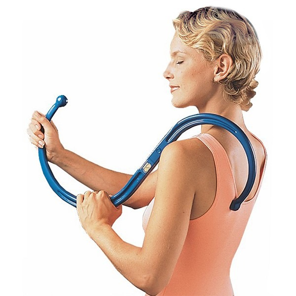 Woman using back knobber